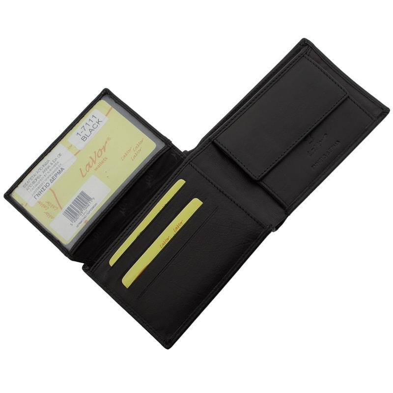 Ανδρικό Πορτοφόλι Δερμάτινο Μαύρο 3