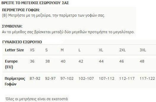 minerva lastex size chart