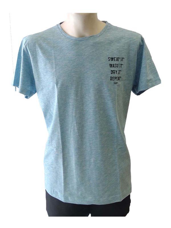 t-shirt target s20-56442 tyrkoyaz melanze 1