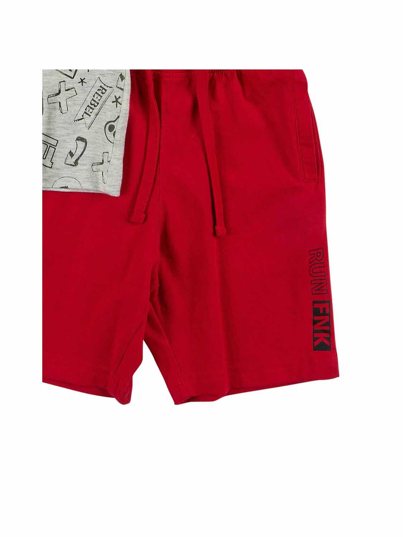 set FNK 121-302114-1 light grey melange-red 3