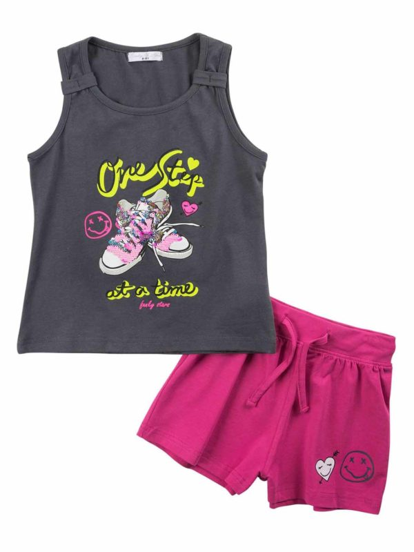 set FNK 121-524101-1 anthracite-fuchsia 1
