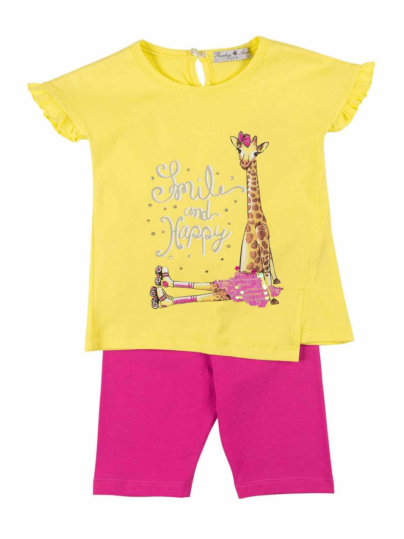 set FNK 121-919109-1 yellow-caramel pink 1