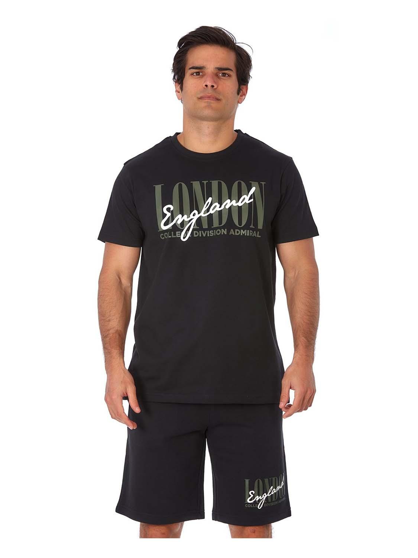t-shirt ADM LONDON mavro