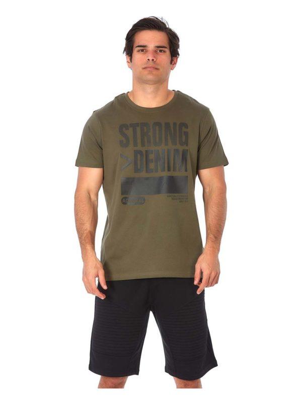 t-shirt ADM STRONG khaki