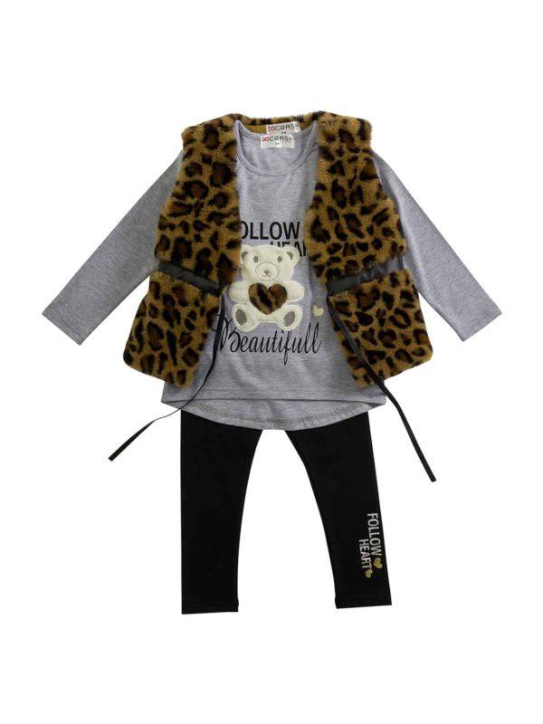 set FNK 221-721156-1 leopard-ecru-black